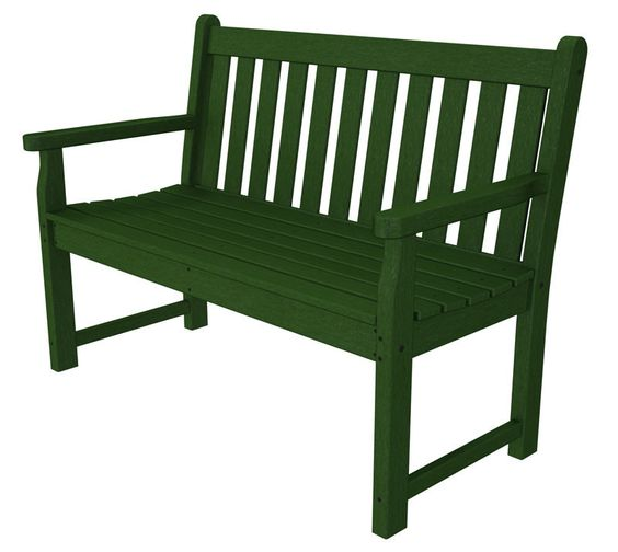 "Polywood TGB48GR Traditional Garden 48"" Bench in Green"