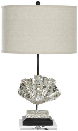 SAFAVIEH LIGHTING COLLECTION SOPHIA SILVER SHELLS TABLE LAMP, SET OF 2 - Click image twice for more info - See a larger selection of table lamp sets at http://tablelampgallery.com/product-category/table-lamp-sets/ - home, home decor, table lamps, gift ideas, home ideas, lightning .
