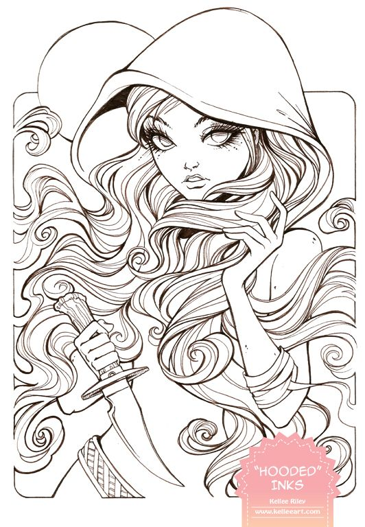 Hooded Inks by KelleeArt.deviantart.com on @deviantART