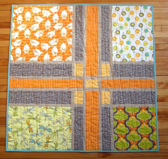 Mini Mushrooms: Craftsman Baby Quilt Pattern