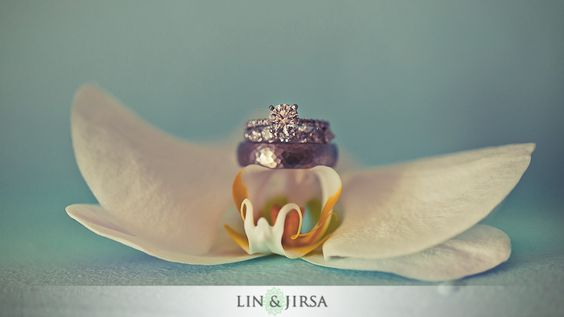 flower wedding rings
