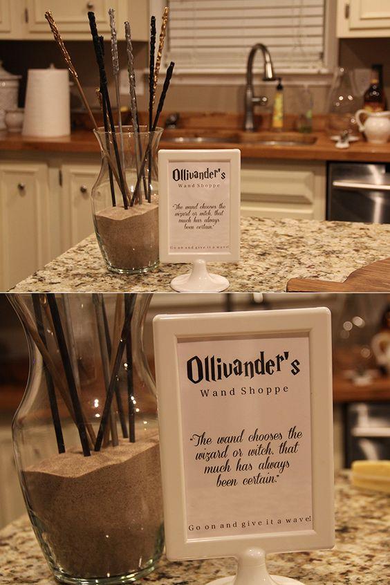 a hogwarts harry potter halloween harrypotter ollivander 39 s wands diy wands party. Black Bedroom Furniture Sets. Home Design Ideas