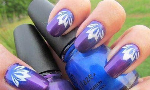Free hand floral tulip design  | See more nail designs at http://www.nailsss.com/nail-styles-2014/