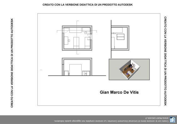 Pianta camera da letto autocad gian marco de vitis - Sansevieria pianta in camera da letto ...
