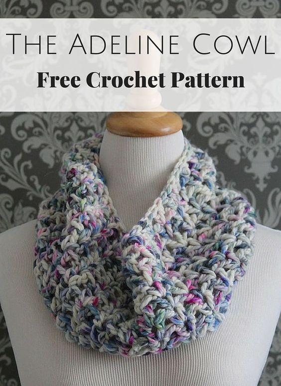 The Adeline Cowl Free Crochet Pattern: