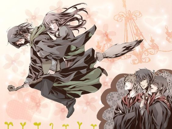 Anime picture 1300x975 with harry potter severus snape ...