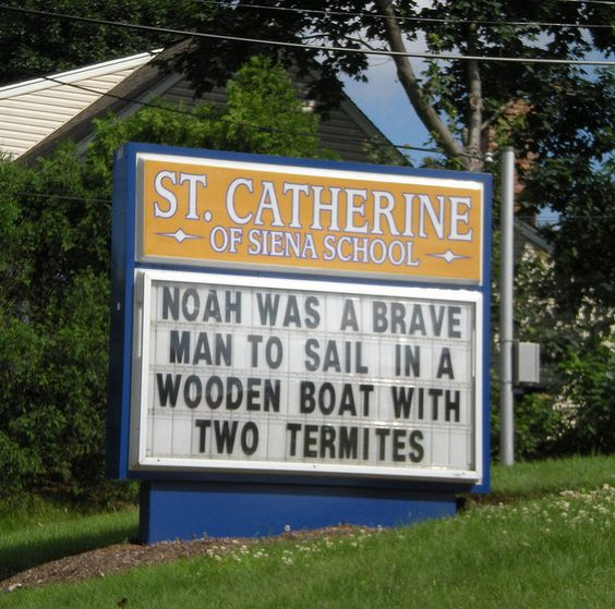 Noah was brave...    ...outside the school of St. Catherine of Siena (Roman Catholic Church) in Cedar Grove, New Jersey