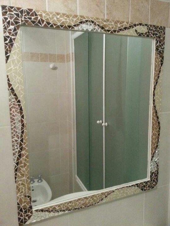 Espejo tecnica mosaiquismo venecitas y espejos mosaicos for Mosaicos para espejos
