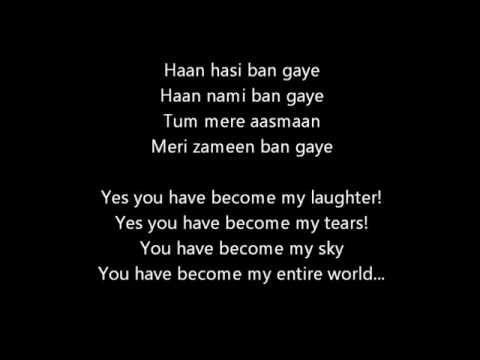 Hasi Ban Gaye Female Hamari Adhuri Kahani Lyrics With Meanings Youtube Song Quotes Lyrics All Songs