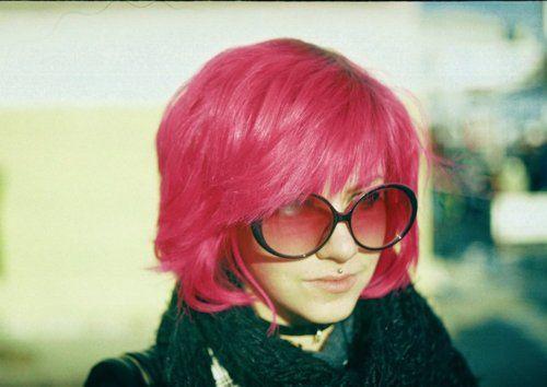 pink bob.