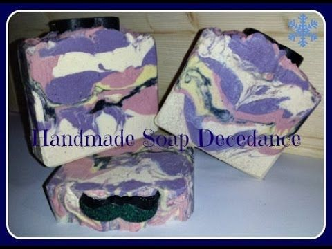 Making & Cutting Black Orchid CP Soap