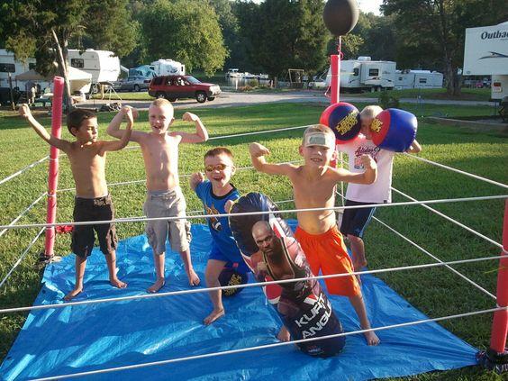 Wrestling Ring! Great little boys birthday party idea!