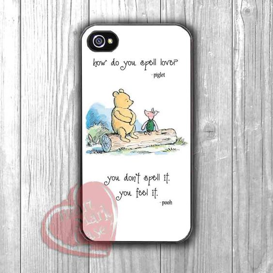 Pooh and Piglet Quote -3ind for iPhone 6S case, iPhone 5s case, iPhone 6 case, iPhone 4S, Samsung S6 Edge