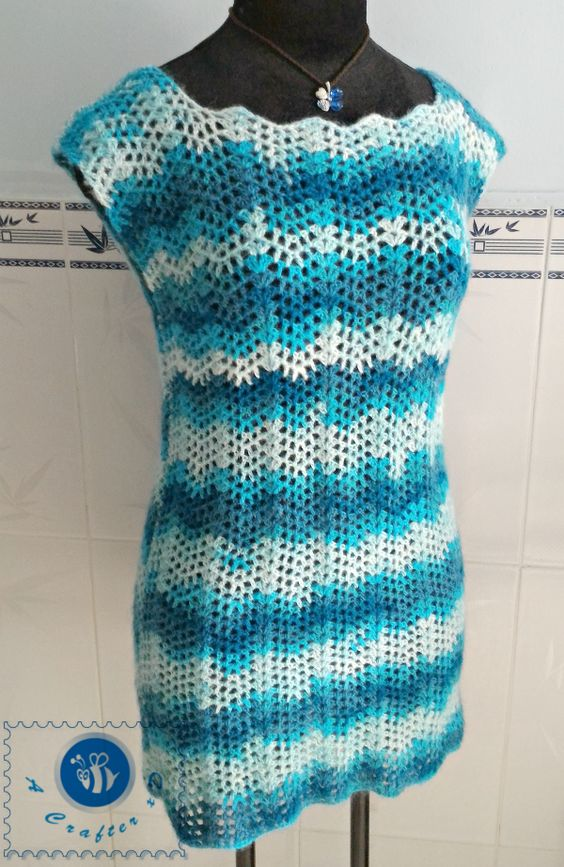 Free Crochet Patterns For Women s Shell Tops : crochet candy ripple tee, crochet ripple top, crochet ...