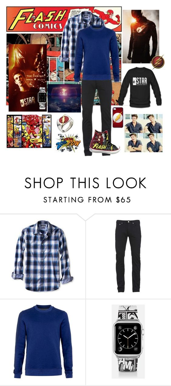 """Barry Allen-the FLASH-"" by kai-noel ❤ liked on Polyvore featuring Banana Republic, Paul Smith, Peter Werth, Casetify, men's fashion and menswear"
