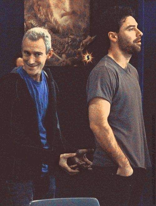 Jed Brophy (Nori) and Aidan Turner (Kili)