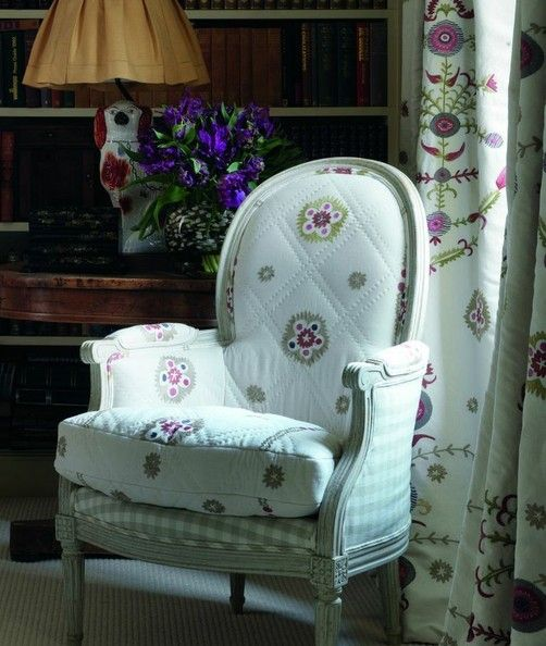 Mix and match upholstery by Kit Kemp