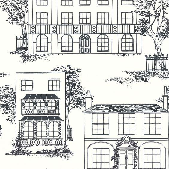 Parato per il Bagno 3. Cfr. Little Greene - 50s line papers - Hampstead c. 1949
