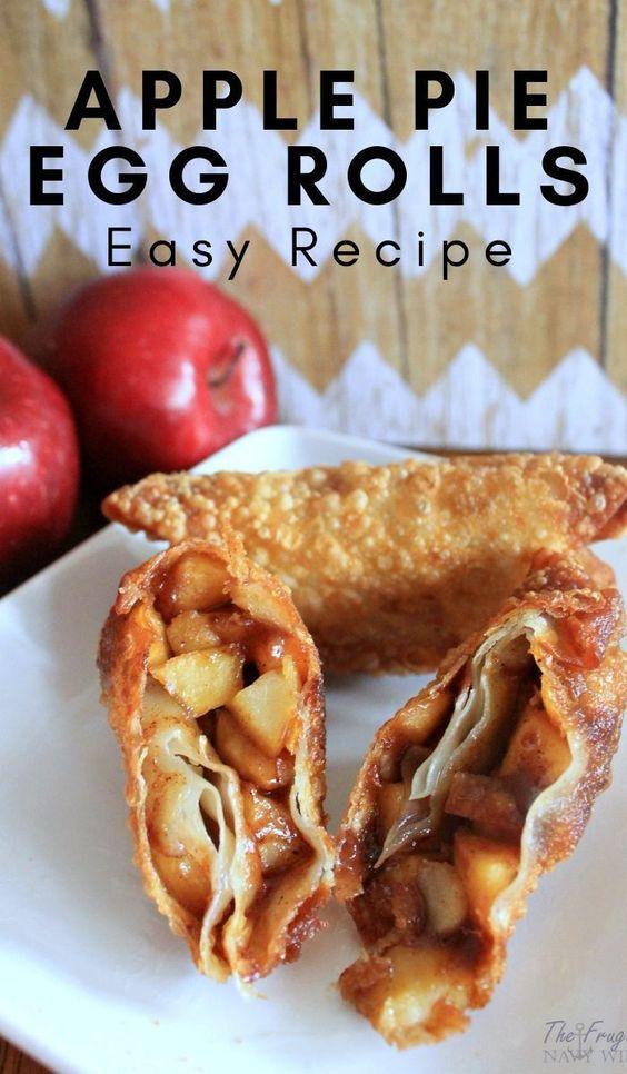 Apple Pie Egg Rolls