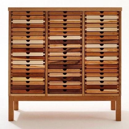 Kommode Aus Massivem Holz Mit Vielen Schubladen Von Sixay Kommode