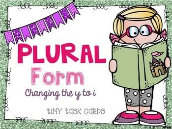 Write+the+Plural+Form+changing+the+y+to+i+and+adding+es+tiny+task+cards.+Students+look+at+the+task+cards,+and+decide+how+to+write+the+word+in+the+plural.+Students+change+the+word+to+the+plural+form+and+record+their+answer+on+their+recording+sheet.These+cards+can+be+cut+out+and+used+just+like+normal+task+cards.