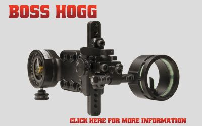 Spot Hogg : Boss Hogg Adjustable Sight. Allows me to shoot 100+ yards accurately.