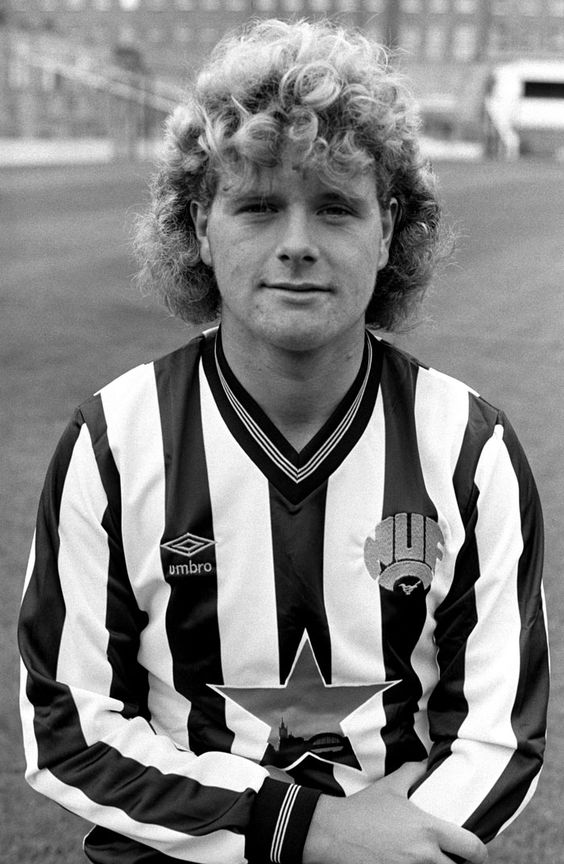 Paul Gascoigne poses in his Newcastle United kit, in 1985. He was 18 years old