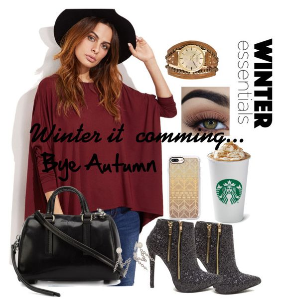 """Winter it's comming...bye autumn 👑😘😊💝"" by amalia-ammi ❤ liked on Polyvore featuring Rick Owens, Moschino, Casetify and Kahuna"
