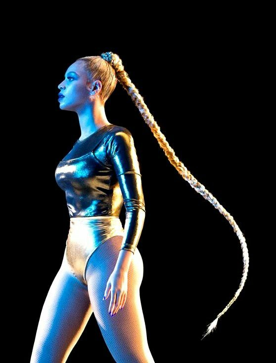 Beyoncé and her stunning hair.  Big show for Tidal event.  Flawless, beautiful, amazing