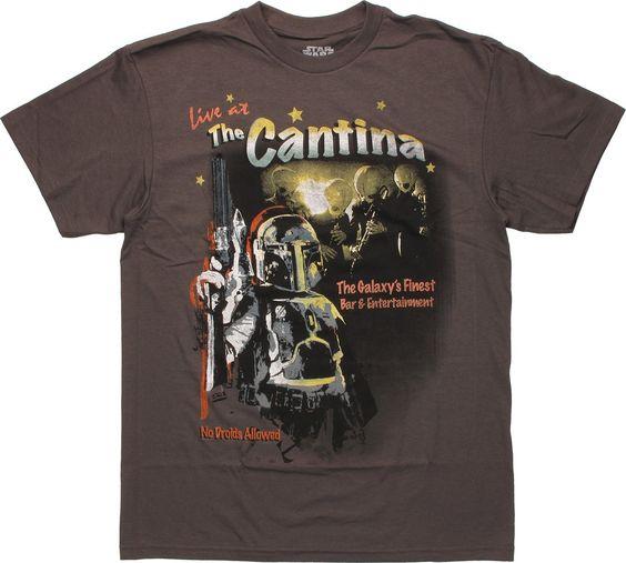 Star Wars Cantina Fett T Shirt  #starwars #bobafett #starwarsepisodevii #starwarsrebels