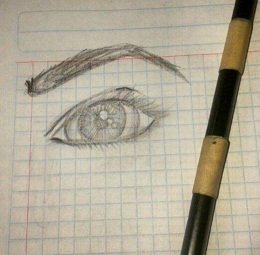 Dibujo de Ojo a Lápiz