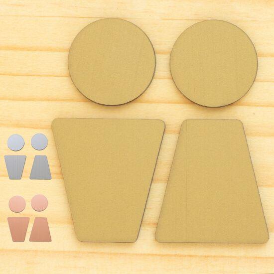 楽天市場 3色 トイレサインプレート C ステンレス調 屋外対応 トイレ マーク ピクトサイン ピクト ドアプレート トイレマーク サインプレート シール式 表示プレート 看板