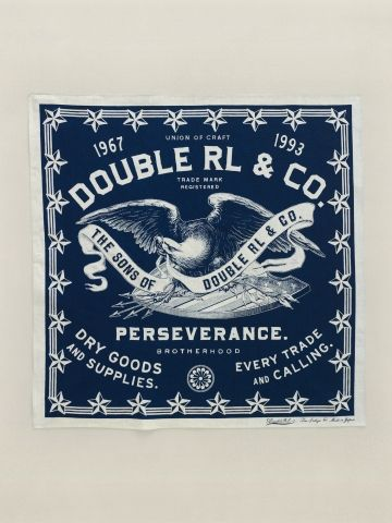 RRL Perseverance Bandana, made in Japan: