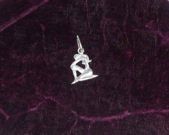 Soviet vintage silver Virgo zodiac pendant. от VintageUSSRshop
