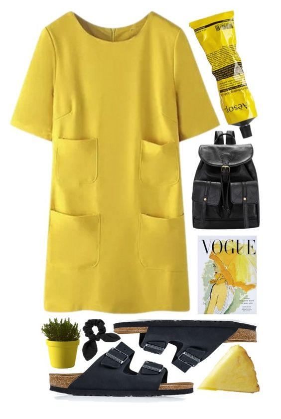 """Susanna"" by unknownreasons ❤ liked on Polyvore featuring Birkenstock, Art for Life, Aesop, Muuto, women's clothing, women's fashion, women, female, woman and misses"