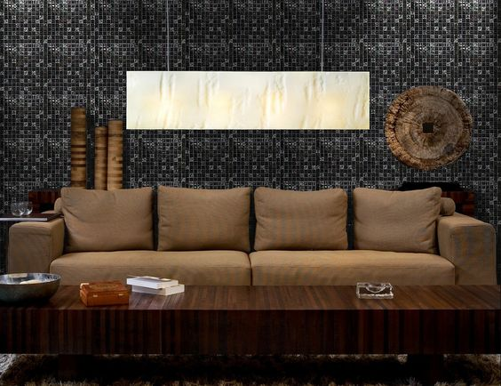 Glass Mosaic Tile Living Room Wall BuilderElements COB0063 Make A Statement