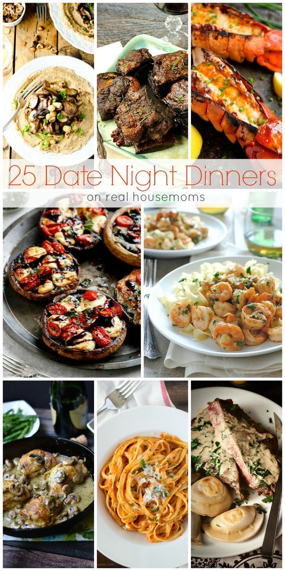 We love these 25 DATE NIGHT DINNERS for a fun date-night in instead of waiting in line at the restaurant!