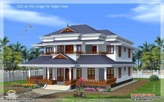 Traditional Kerala Style Home Kerala House Design Kerala Houses Ranch Style House Plans
