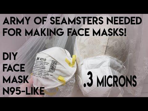 Diy Face Mask N95 Like Easy Sew 3 Micron Filter Respirator