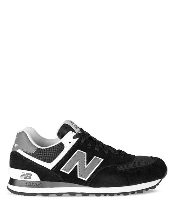 new balance 574 suede mens shoe with rubber sole