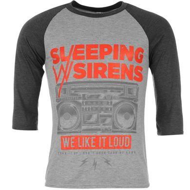 Official Band | Official Band Merch Sleeping With Sirens Raglan T Shirt Mens | Mens T Shirts