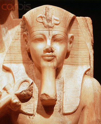 Detail of Statue of Sobek Enthroned with Amenhotep III