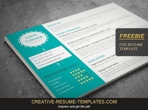 free-landscape-cv-templatejpg (590×440) Resume ideas - landscape resume