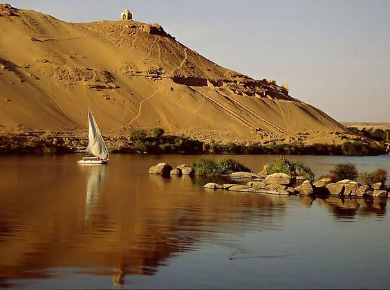 Nil bei Assuan von Erich Rohrauer