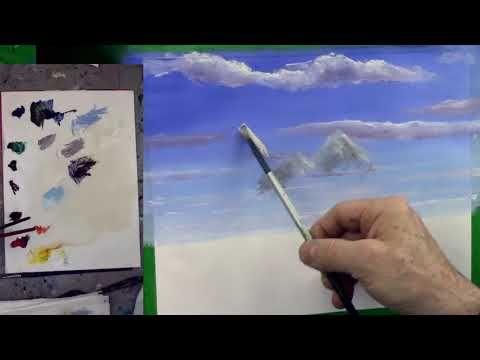 Cours De Peinture Comment Peindre Des Montagnes Youtube