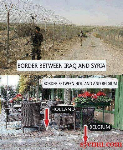 Difference Between European and Middle-Eastern Borders