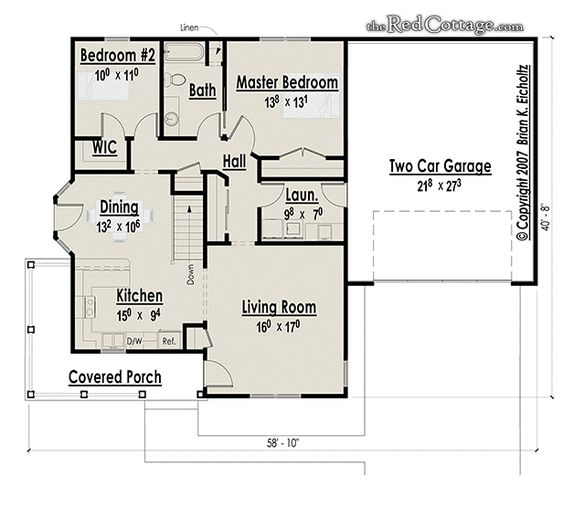 Piantine di case the red cottage floor plans home designs for Planimetria di cottage calabash