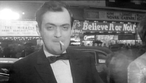 "Kubrick at the premiere of ""Lolita""."