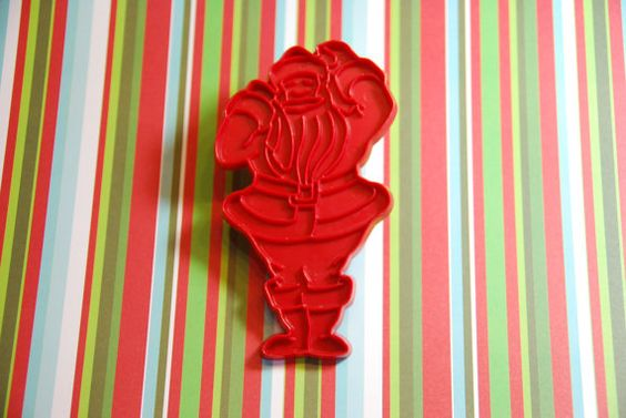 Santa Lobster is probably my favorite christmas cookie cutter in my collection, he makes an appearance every year!    Vintage Tupperware Santa Cookie Cutter