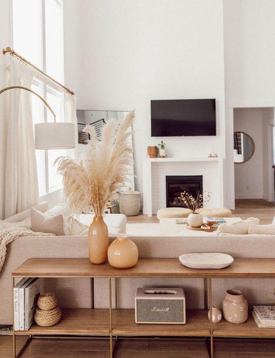 Modern Neutral Colors Decoration Decoration Salon Idee Decoration Appartement Idee Decoration Salon